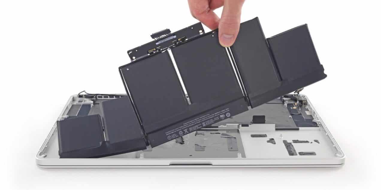 Macbook baterijos keitimas